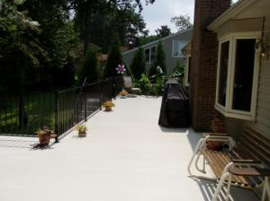 how to clean an aluminum deck